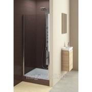 Душевая дверь в нишу, левая, стекло прозрачное, профиль хром, 80х185 см Aquaform Glass 5 фото