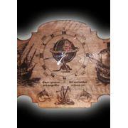 Часы в морском стиле фото