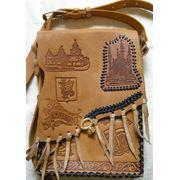 Кожаная сумка ручной работы. фото