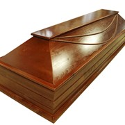 Гробы деревянные лакированные (ольха), гробы из МДФ фото