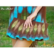 Сумочка-клатч ручного валяния из шерсти фото