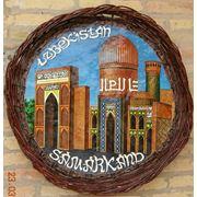 Тарелка плетенная настенная декоративная. фото