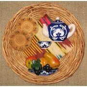 Сувенир Дастархан большой с фруктами фото