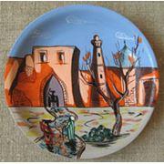 Тарелка керамическая с ручной росписью фото