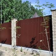 Забор из профлиста /профнастила под ключ фото