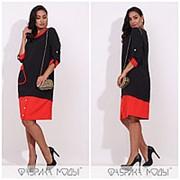 Платье женское прямого кроя - Черный фото