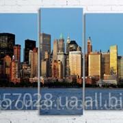 Модульна картина на полотні Панорама New York код КМ100200(176)-052 фото