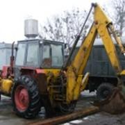 Услуги экскаватора на базе трактора МТЗ, с отвалом. фото