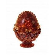 Яйцо пасхальное из янтаря 0734-aw фото