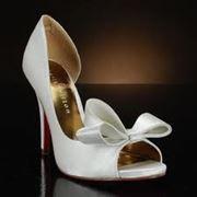 Обувь свадебная белая эксклюзивная фото