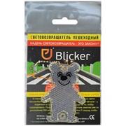 """Световозвращающая подвеска (фликер) """"Мишка"""", белый, (Blicker) фото"""