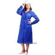 Халат для ИТР женский с коротким рукавом, модель 67 фото