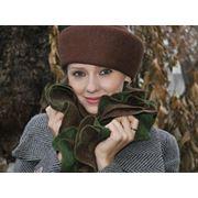 Шляпа женская ручного валяния из шерсти. фото