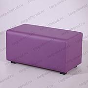 Банкетка/прямоугольник с сиденьем для магазина ПФ-2(фиол) фото