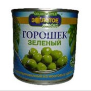 Горошек зеленый консервированный фото