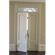 Классические двери из дуба,белые классические двери из ясеня на заказ фото
