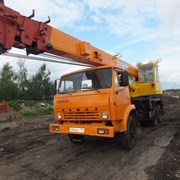 Аренда автокрана 16 тонн, стрела 18 метров Камаз фото