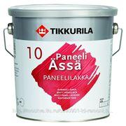 Лак, Тиккурила Панели Ясся, Tikkurila paneli Assa, полуматовый, 2.7 л, бесцветный фото