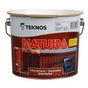 Водоразбавляемый лак Natura мат., 2,7л, Teknos фото