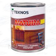 Водоразбавляемый лак Natura мат., 0,9л, Teknos фото