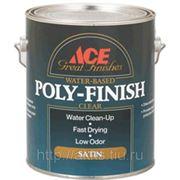 Лак на водной основе Poly-Finish мат., 3.8л, Ace фото