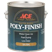 Лак на водной основе Poly-Finish глянц., 3,8л, Ace фото
