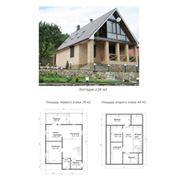 Проект каркасно-щитового дома 6 фото