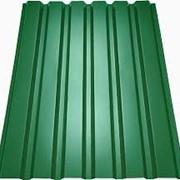 Профнастил зелёный фото