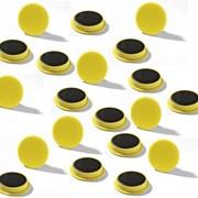 Магнит 32 мм Желтый фото