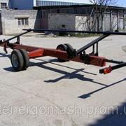 Візок одновісний для перевезення жниварок ВТЖ 9 (спарені колеса) фото