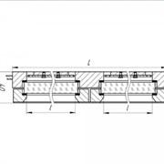 Колонка указательная с двумя плоскими рифлеными стеклами, вварная фото