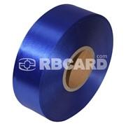 Печать на ярко-синей сатиновой ленте фото