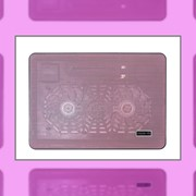 Подставка для ноутбука с вентилятором и подсветкой фото