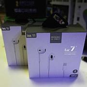 Наушники с гарнитурой проводные iphone 7 фото