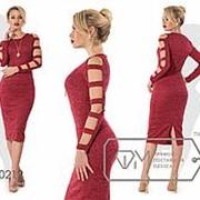 Облегающее платье женское - Бордовый фото