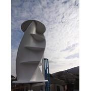 Ветрогенератор вертикально-осевого вращения, собственного производства. фото