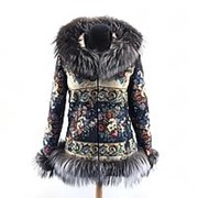 Куртка с мехом черно-бурой лисицы фото
