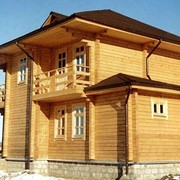 Дома из оцилиндрованного и клееного бруса фото