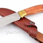 Нож охотничий. Рукоять - красное дерево фото