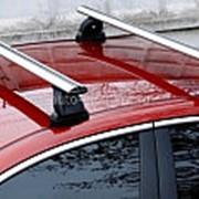 Багажник на крышу Лада Приора (Lada Priora) седан 2004-2013, аэродинамические поперечины Lux. фото