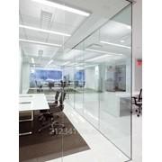 Перегородка из стекла в офисном помещении арт 2406 фото