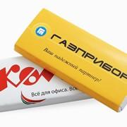 Шоколад 60 гр. с логотипом фото