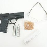 Пистолет пневматический Crosman PRO77 Kit (blowback, пули+очки+2 баллончика) кал.4,5мм фото