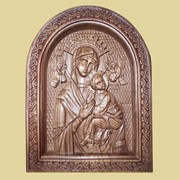 Икона резная деревянная 1 фото