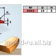 Код товара: 0402 (D15 H5 R2,5) Фреза галтельная ( фреза радиусная, кромочная калевочная) фото