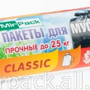 Пакеты для мусора рулон ПНД 30л, MIRPACK - Classic, 20шт,7 мкм белый фото