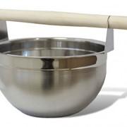 Шайка для бани 7л, нерж. SAWO 375-МР фото