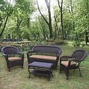 Комплект плетеной мебели LV130 Brown/Beige фото
