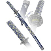 Подарочный самурайский меч Вакидзаси - Серебро фото