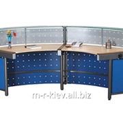Стол ресепшн (reception) с перфорированной панелью фото